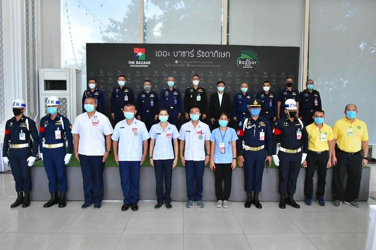 เสนาธิการทหารอากาศ ตรวจเยี่ยมพื้นที่กักกันโรคแห่งรัฐ (State Quarantine) ณ โรงแรม The Bazaar Hotel Bangkok (รัชดา)