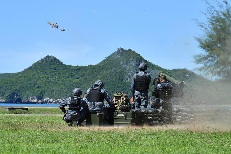 ตรวจเยี่ยมการฝึกยิงจรวดต่อสู้อากาศยาน ประจำปี ๒๕๖๓